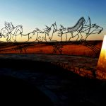 64. Spirit Warriors, Indian Memorial, Little Bighorn Battlefield, Big Horn County, Montana, 2009.