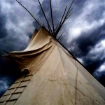 38.  Crow Fair Tepee, Crow Agency, Montana, 2009.