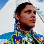217. Morgan King, Assiniboine-Cheyenne, Crow Fair, Crow Agency, Montana, 2009.