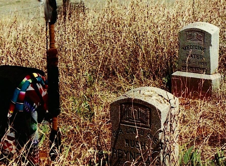 Medicine Water's Gravesite, Clinton, Oklahoma, 2002.