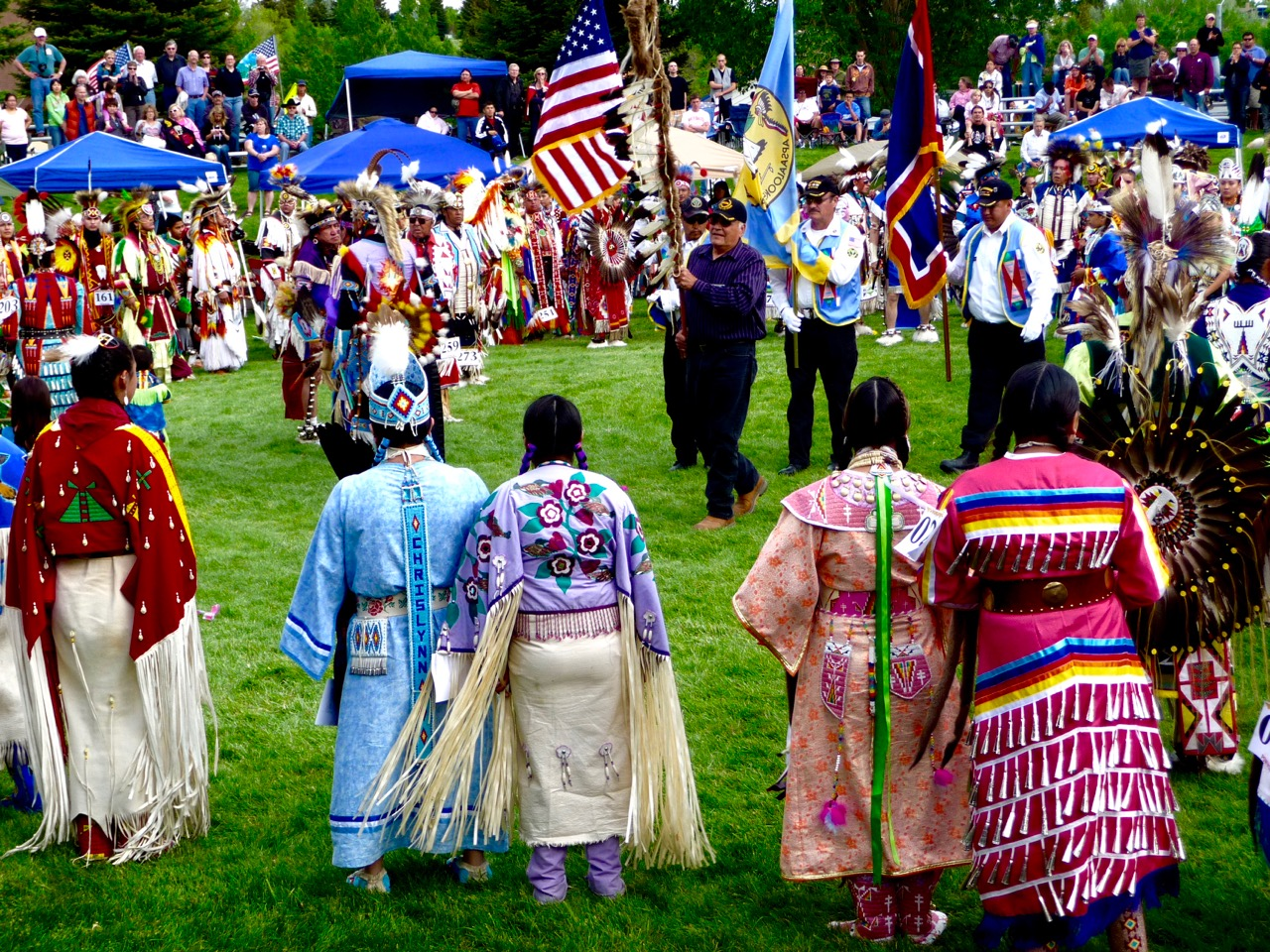 Grand Entry, Plains Indian Museum Powwow, Cody, Wyoming, USA, 2011.