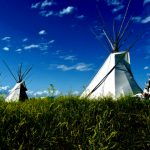 133. Tepees, Custer Battlefield Trading Post, Crow Agency, Montana, 2011.