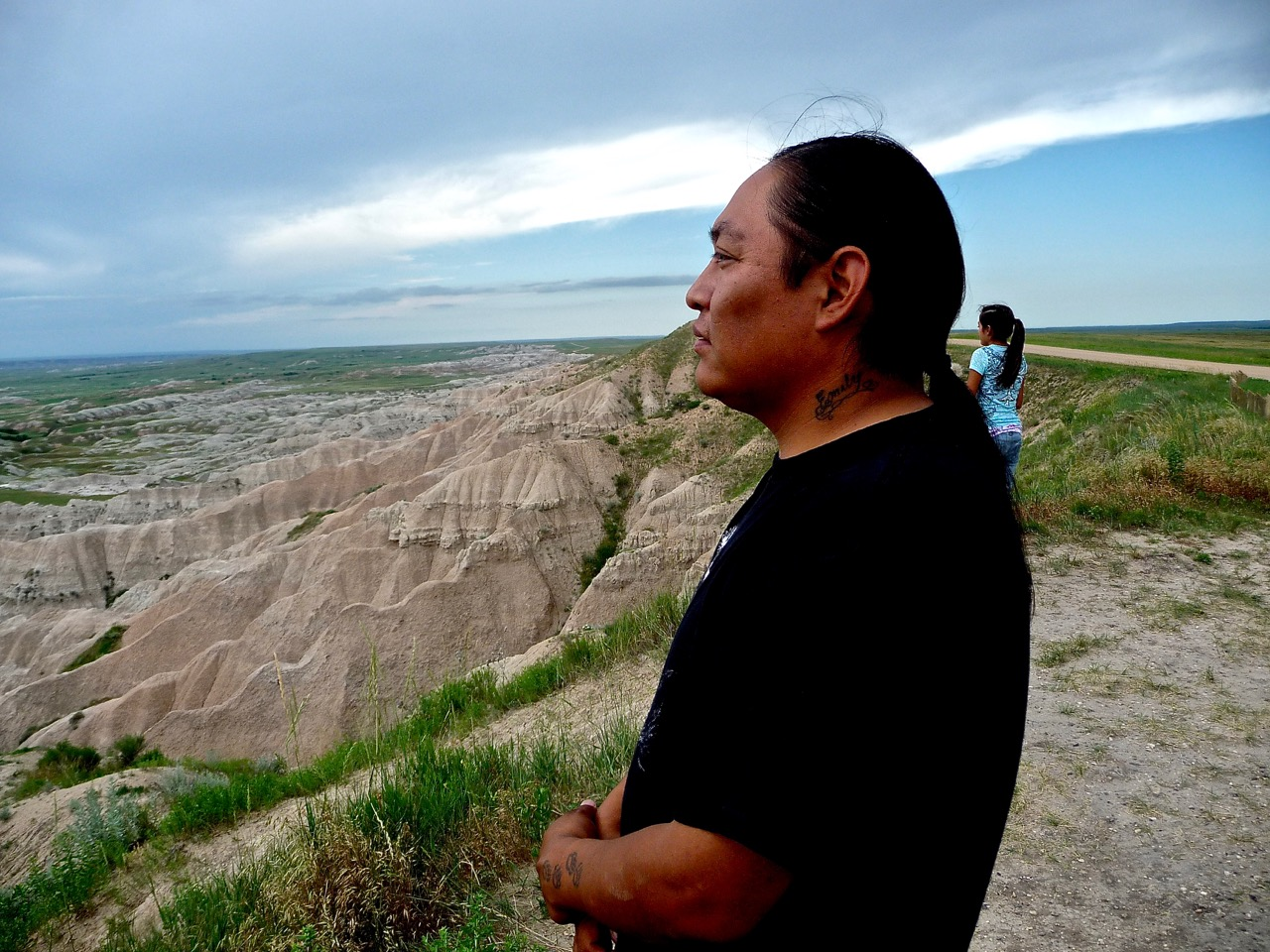 Mike having some quiet thoughts, The Badlands, South Dakota, USA, 2011.