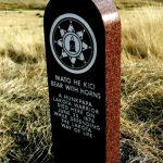 143. Bear With Horns Marker, Little Bighorn Battlefield, Crow Agency, Montana, 2006.