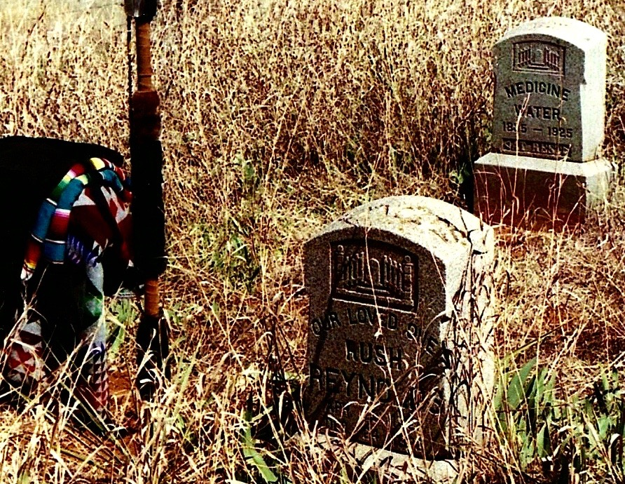 Medicine Water's Gravesite, Clinton, Oklahoma, 2002. (1)