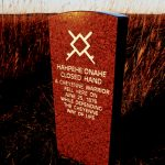 238. Closed Hand Cheyenne Marker, Little Bighorn Battlefield, Crow Agency, Montana, 2010.