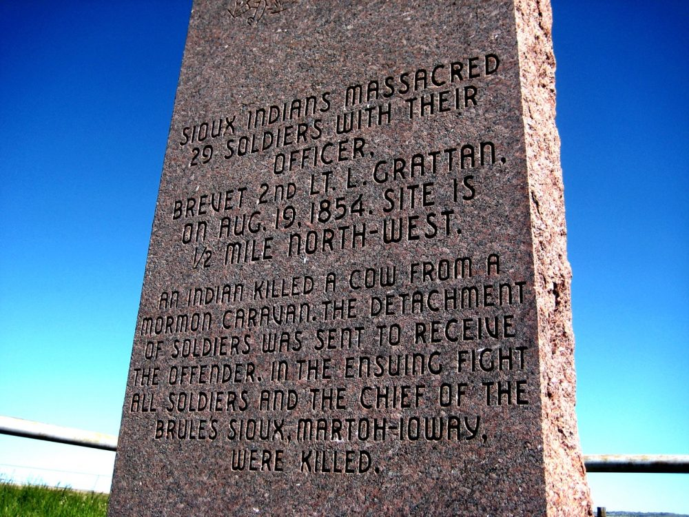 Grattan Massacre Monument (1), Wyoming, USA, 2008.
