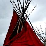 137.  Tepee, Custer Battlefield Trading Post, Crow Agency, Montana, 2011.