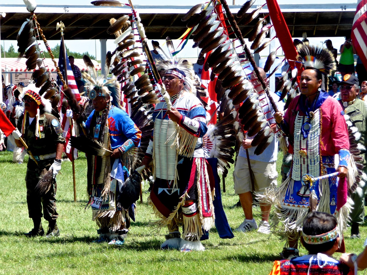 Grand Entry, Rosebud Powwow, South Dakota, USA, 2011.