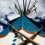 159. Tepee, Plains Indian Museum Powwow, Cody, Wyoming, 2008.