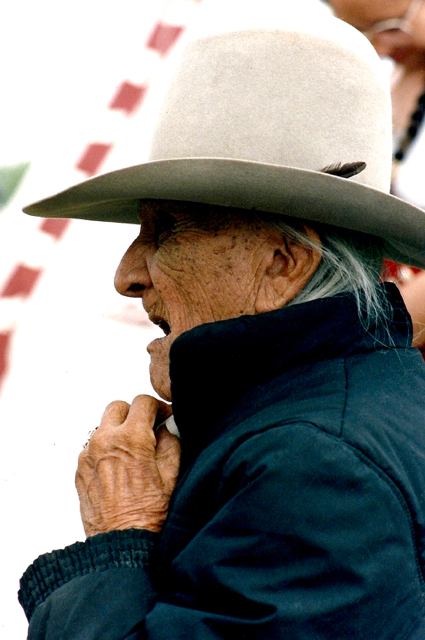 54. Frank Fools Crow, Oglala-Lakota, Cedar Lodge, South Dakota, 1989.