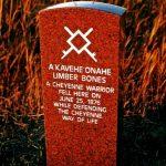 273. Limber Bones Marker, Little Bighorn Battlefield, Crow Agency, Montana, 2010.